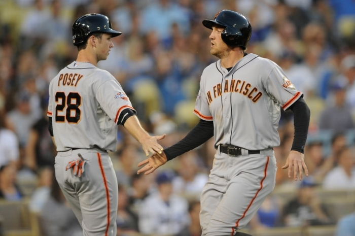 hunter-pence-buster-posey-mlb-san-francisco-giants-los-angeles-dodgers1